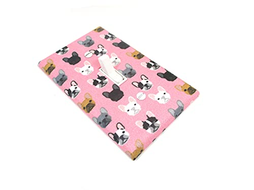 Pink French Bulldogs Light Switch Cover Plate Frenchie Dog Home Decor