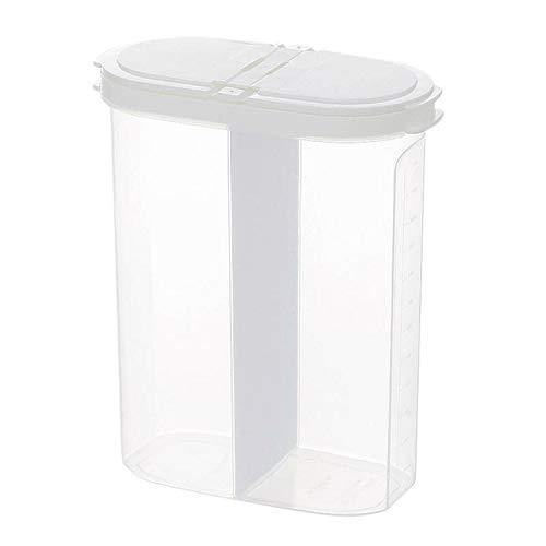 Almacenamiento de Cocina 1pcs Alimento de Alimentos Caja de Olla 2.6L Refrigerador Plástico Transparente Sellado Cereal Cereal Tarrar Grain Cocina Almacenamiento Contenedor (Color : White)