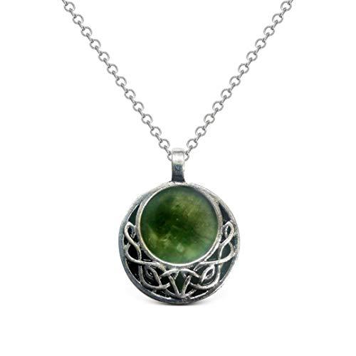 Galanta Connemara Marble Celtic Knot Pendant