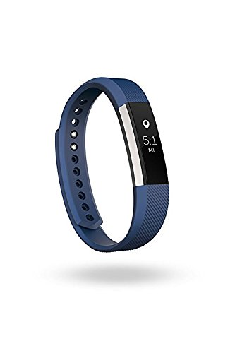Fitbit Alta Fitness Tracker, Silver/Blue, Large (6.7 - 8.1 Inch) (US Version)