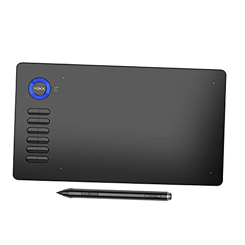 #N/A/a Tableta de Dibujo de gráficos Digitales de 10x6 Pulgadas, sin batería, pasiva, Compatible con la función de inclinación, para Mac/Android/Windows, Azul