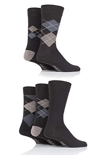 FARAH® Herren Argyle Socken Packung mit 5 Braun/Grau 39-45