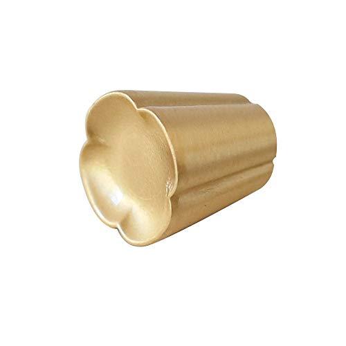 JenLn Premium massivem Messing Golden Lucky Clover Form Kabinett Knöpfe Schrank Kleiderschrank Küche Schubladengriffe Stilvoll Und Langlebig (Farbe : Golden, Größe : 15 * 20 * 10mm)