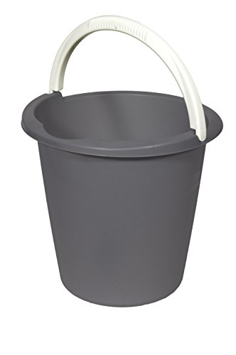 CURVER Eimer 10 L in anthrazit, Plastik, 29.3 x 29.3 x 28 cm