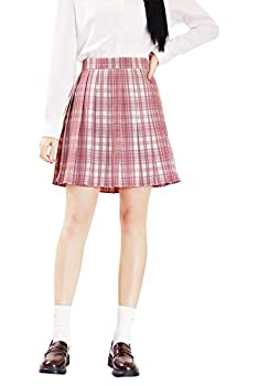 Ubaywey Japan Girls School Skirt Pleated Sailor Skirt JK Uniform High Waist Role Play Costume