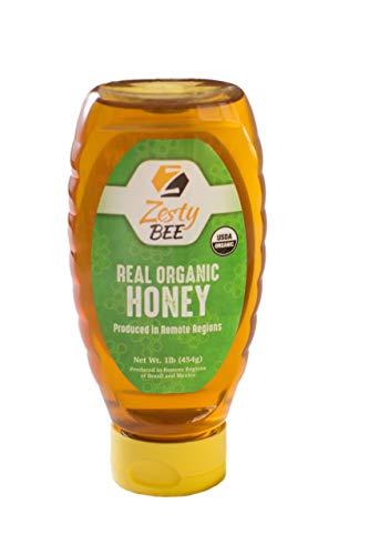 Zesty Bee Organic Honey, Organic honey, 16 Ounce
