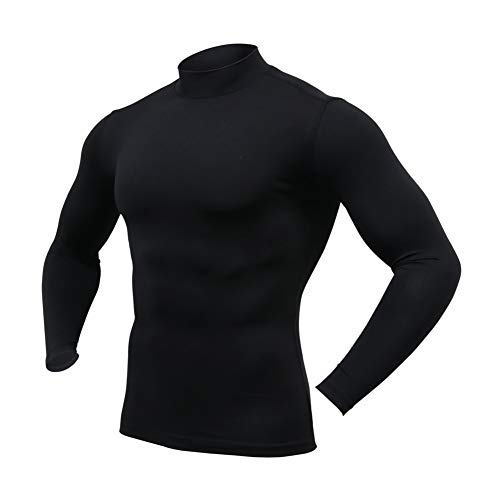 ARMEDES Mens Mock Long-Sleeved T-Shirt Cool Dry Compression Baselayer...