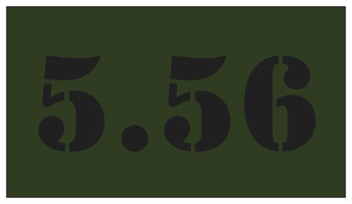 5pcs 5.56 OD Green with Black Lettering for Military Style Steel Ammo Can Magnet Phalanx International PI-ACC2121556G