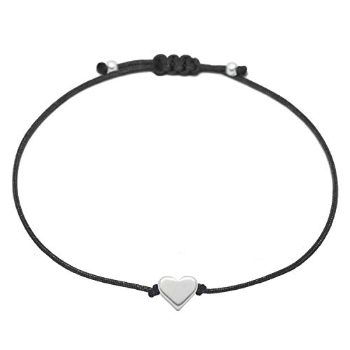 Filigranes Herz Armband Silber -...