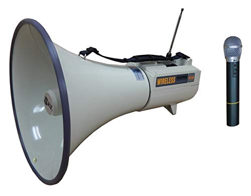 45W Wireless Megaphone with Built-in Siren and Wireless Microphone Set