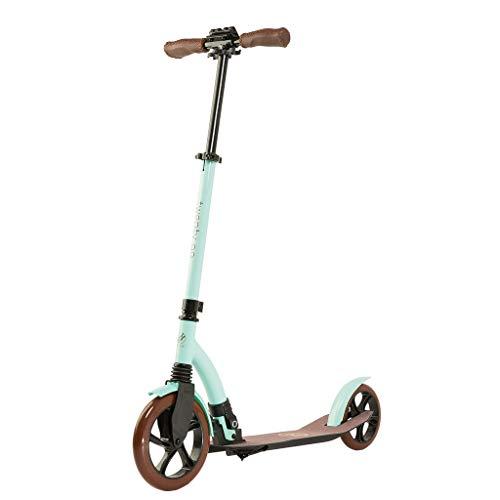 20 twenty go Roller City Scooter, Roller für Erwachsene und Kinder, Höhenverstellbar bis 105 mm, Faltender Roller, Scooter Big Wheels, Vorderradaufhängung, Fußbremse (Minze)