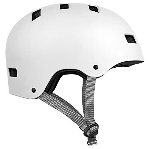 Retrospec cm-1 Bicycle/Skateboard Helmet for Adult Commuter, Bike, Skate , Matte White, 59-63cm / Large