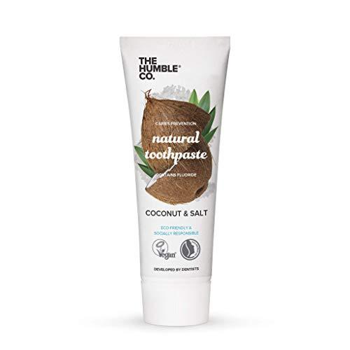 Humble Natural Toothpaste - Zahnpasta - with fluoride - mit Fluorid - Coconut & Salt - Kokosnuss & Salz - 3 x 75 ml