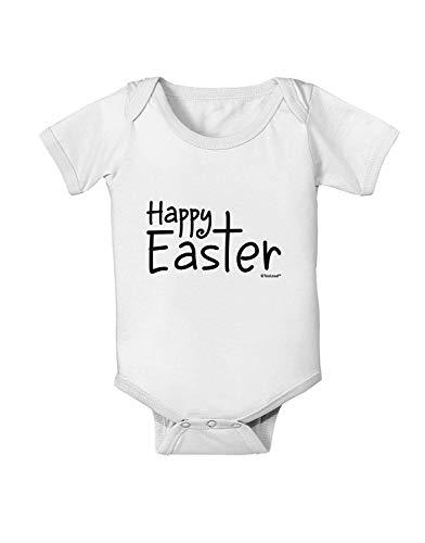 Body pour bébé avec inscription « Happy Easter » avec croix - Pour nouveau-né, fille et garçon - Blanc - XX-Small