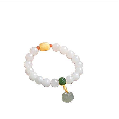 shixiaodan Brazalete De Jade para Mujer Pulsera De Jade Natural Joyas Brazalete De Piedras Preciosas De Claro Joyas con Joyero De Gama Alta