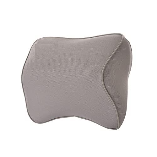 LMMY Reposacabezas de automóvil Alivia la Fatiga Universal elástica látex Protectora Suave Asiento Suave Almohada Cuello Apoyo ergonómico cojín Interior (Color : Grey)