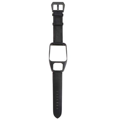 Nicerio - Pulsera de piel de repuesto para reloj inteligente GPS Tomtom Runner 3 y Tomtom Adventurer