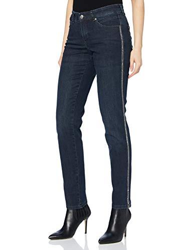 MAC JEANS Damen Melanie Glam Galloon Jeans, D833 Dark Blue Authentic wash, 38/30