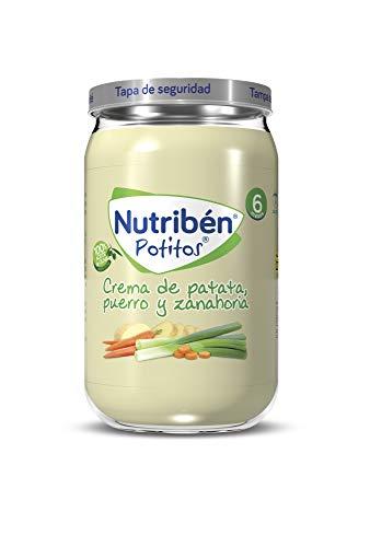 Nutribén Potitos De Crema De Patatas, Puerro Y Zanahoria, Desde Los 6 Meses, 235 g