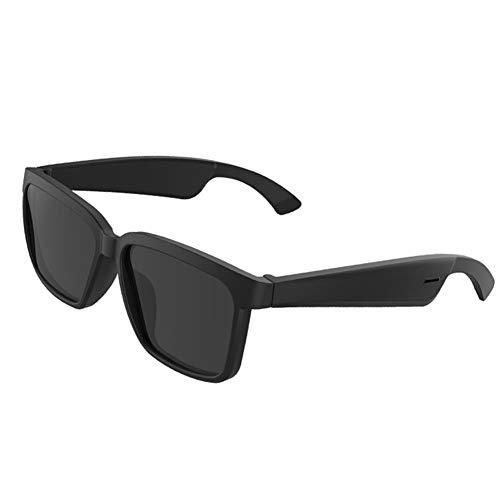 WXJWPZ Auriculares Inteligentes Bluetooth de conducción ósea, Gafas de Sol polarizadas, Deportes de Coche, Gafas Anti-BLU-Ray, Auriculares inalámbricos