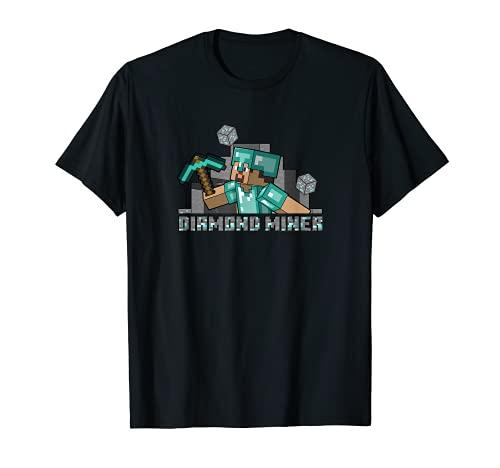 Minecraft Steve Diamond Miner T-Shirt