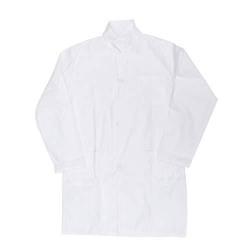 TOYANDONA Bata de Laboratorio para Niños Batas Blancas para Niños Doctor Cosplay Traje Uniforme para Científico Doctor Role Play Dress (Tamaño Especial)