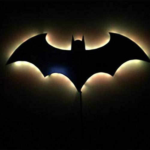 Veilleuse Couleur Télécommande 3D USB 3D Batman 7 Couleur Miroir LED Télécommande Télécommande Night Light Décoration de La Maison Mur De Projection Lampe Atmosphère Lampe Cadeau pour Enfants Petit