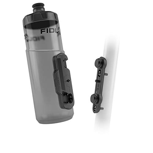 Fidlock TWIST Bottle 600 Set- Bike Water Bottle Holder with Attached Bottle - Cage Free Magnetic...