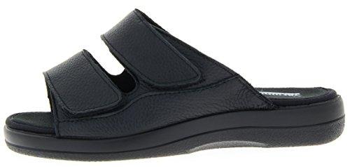 Florett Damenschuhe 62710 Alta Varomed Damen Therapieschuh, Hausschuhe, Verbandsschuhe Alta Pantolette schwarz (schwarz), EU 47