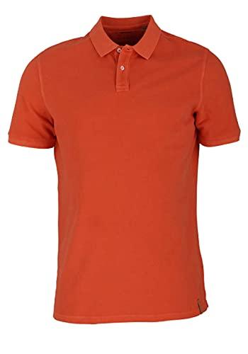 eterna Regular Fit Poloshirt Kurzarm geknöpfter Polarkragen Pique orange Größe 40
