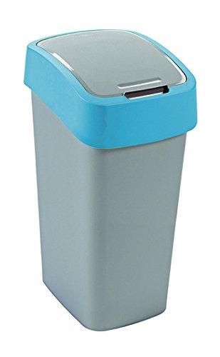 CURVER Flip Bin Schwingdeckeleimer 50 Liter Silber/blau