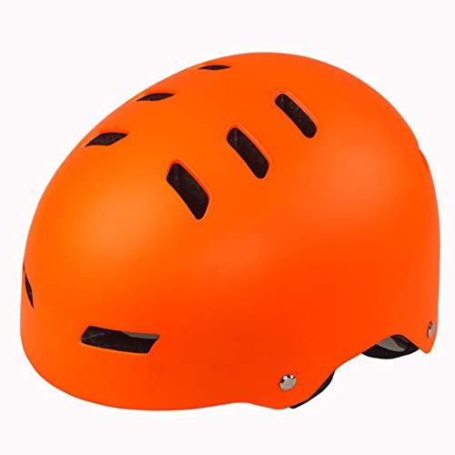 Dybory Casco de bicicleta para adultos, ajustable, casco E-Scooter casco, casco duro para escalada, patinaje, balanceador para hombres y mujeres, adolescentes (52-57 cm), color naranja, tamaño L