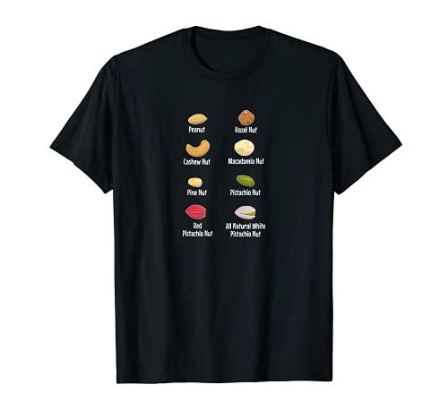 Prénom mixte noix de cajou, pin noisette, macadamia pistache T-Shirt