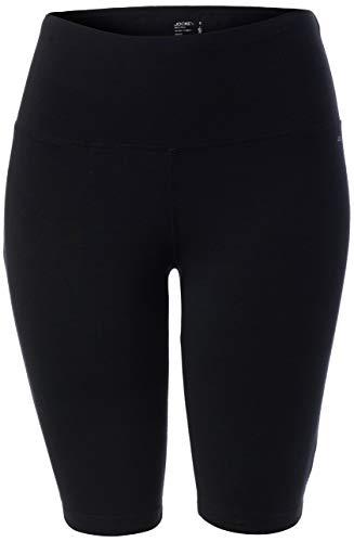 Jockey Women#039s High Waist 10#039#039 Bike Short Deep Black XLarge