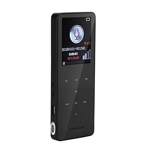 Zerone Digitaler Sprachrecorder 8G / 16G Diktiergerät Bluetooth Audio MP3 Player USB Stereo HD 1536Kbps mit Mikrofon Wiederaufladbar für Vorlesungen Besprechungen Inteviews(8G)