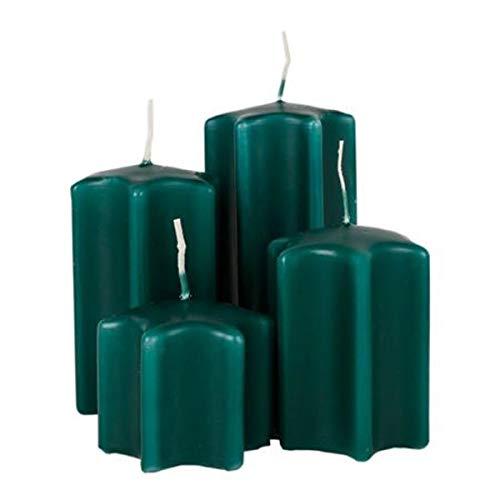 Unbekannt Adventskerzen-Set Forma Estrella Velas de la Navidad Decoración de Navidad Sternkerzen Velas, Color: Verde