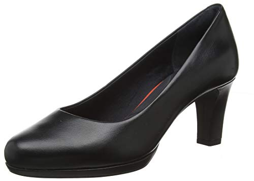 Rockport Mädchen Total Motion Leah Pump Pumps, Schwarz (Black Nappa 002), 35 EU