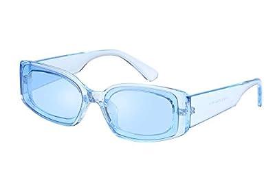 FEISEDY Creative Rectangle Sunglasses Women Fashion Thick Frame UV400 Protection B2462