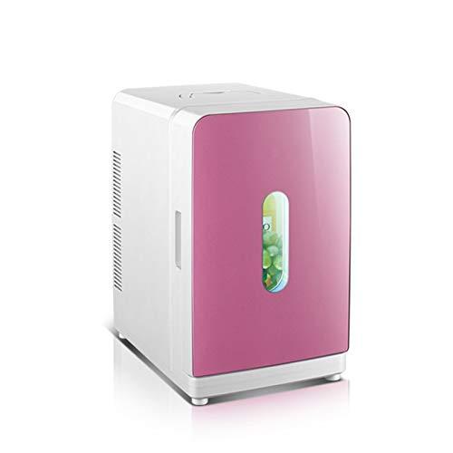 Draagbare elektrische auto koelkasten 20L Mini Koelkast Auto Koelkast Cosmetische Masker Moedermelk Gekoelde Koelkast Student Slaapzaal Koelkast Handig Buiten roze