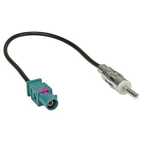 tomzz Audio 1500-032 Fakra (M) Antennenadapter Stecker auf DIN (M) Stecker kompatibel mit Audi, BMW, Citroen, Dacia, FIAT, Opel, Peugeot, Renault, Seat, Skoda, VW