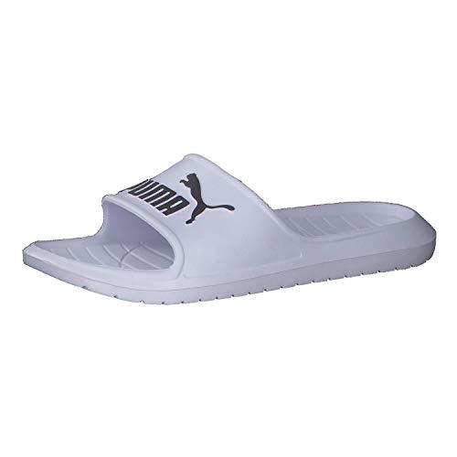 PUMA Divecat v2, Zapatos de Playa y Piscina Unisex Adulto, Blanco White Black, 43 EU