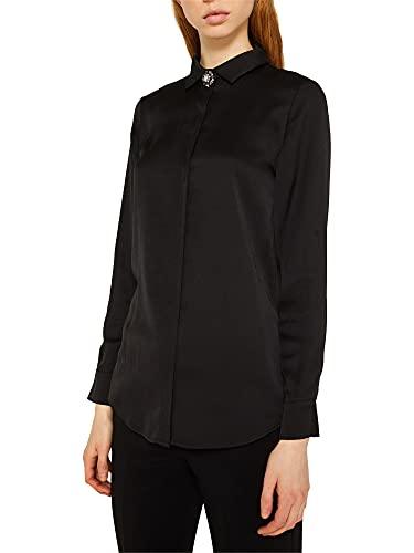 ESPRIT Collection Damen 129EO1F014 Bluse, Schwarz, (Herstellergröße:36)