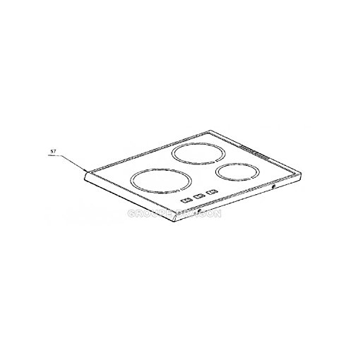 Electrolux–Placa parte superior vidrio vitro-ceram para cocina Electrolux