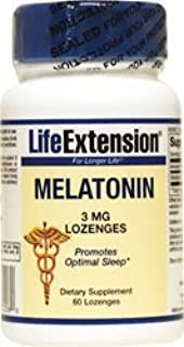 Amazon.com: Melatonin Sublingual 3mg Life Extension 60 Lozenge by Life Extension: Health & Personal Care