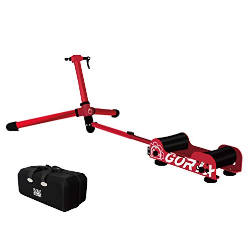 GORIX ゴリックス サイクルトレーナー ローラー台 自転車 トレーナー クイック/スルー (GX-ROLLER)(レッド)