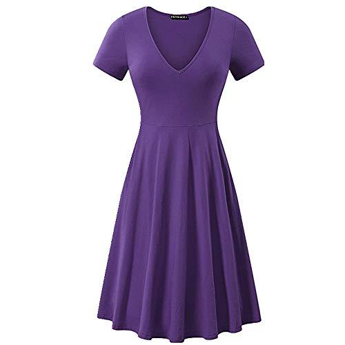 NOBRAND Vestido de manga corta para mujer