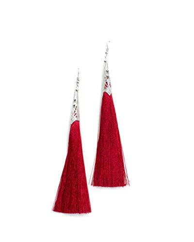Ohrringe Quasten Rot Haengen (Madame Zheng Style)