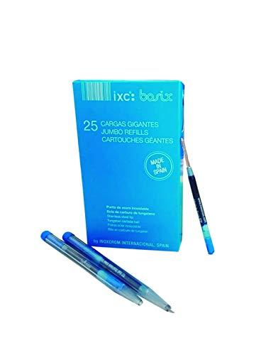 Inoxcrom 00939719 - Recambio para bolígrafo, 25 unidades, color azul