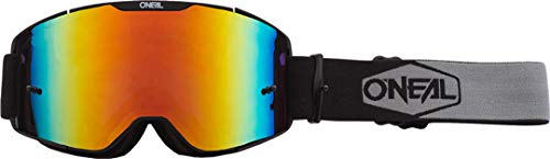 O'NEAL B20 Plain Goggle MX DH Brille schwarz/weiß/Radium rot Oneal
