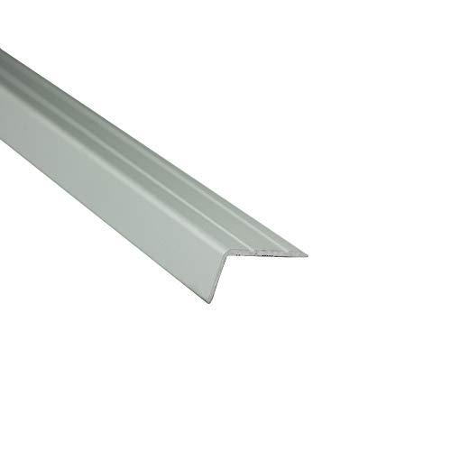 Alu L-Profil Treppe Fliesenschiene Laminat matt L270cm H12mm silber